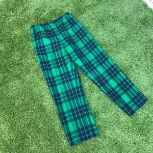 ❣️ vintage green and blue wool plaid trousers